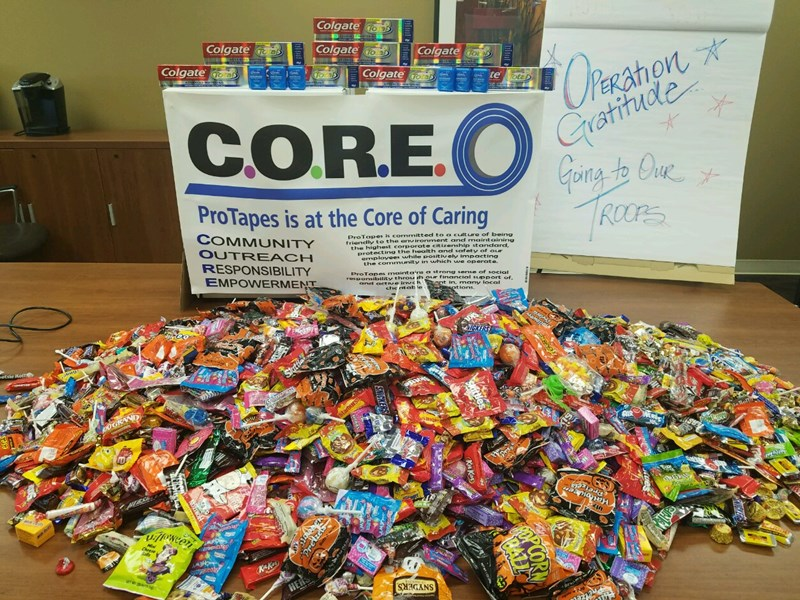 OPERATION GRATITUDE CANDY DONATION TO OUR TROOPS