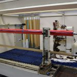 Lathe slitter being set-up