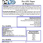 Pro ATG Tapes and Dispensers Spec Sheet