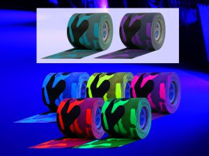 Cool Camo comes in 7 colors. The 5 fluorescent colors and are UV light or blacklight reactive
