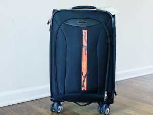 Pocket Cool Camo being used to quickly identify luggage