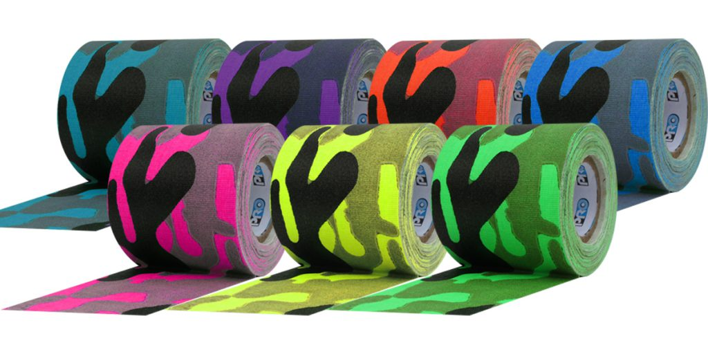 All 7 colors of Pro Pocket Cool Camo Cloth Tape