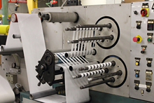 Narrow Web Rotary Die Slitting of 1in, 1-1/2in and 3in Core I.D.