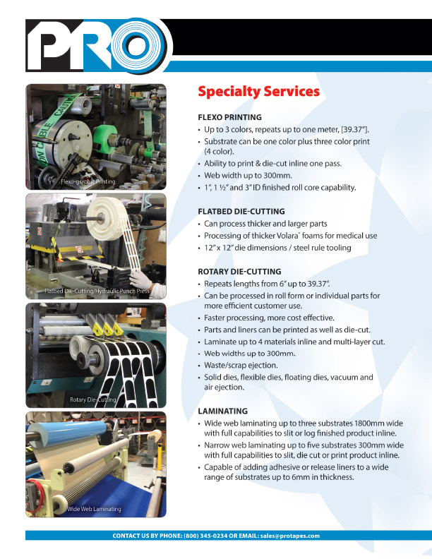Pro Tapes & Specialties > services > Flexo Printing
