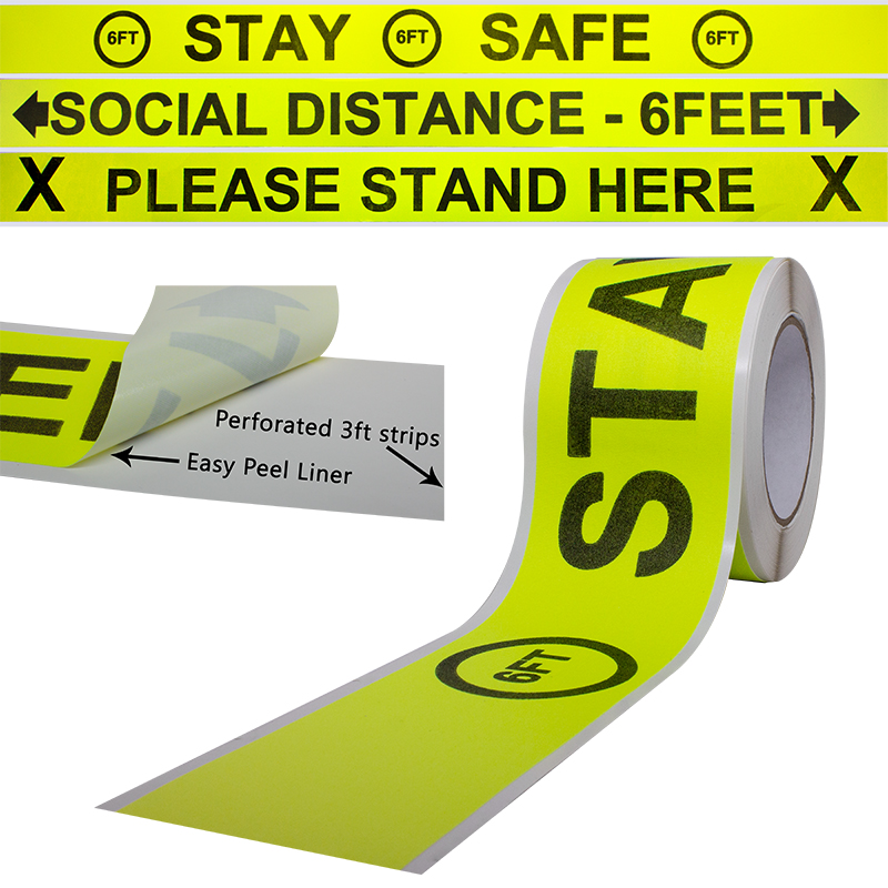 Pro Gaff® Printed Industrial Floor Marking Tape Rolls tape