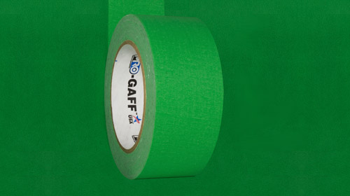 Chroma key green gaffer tape