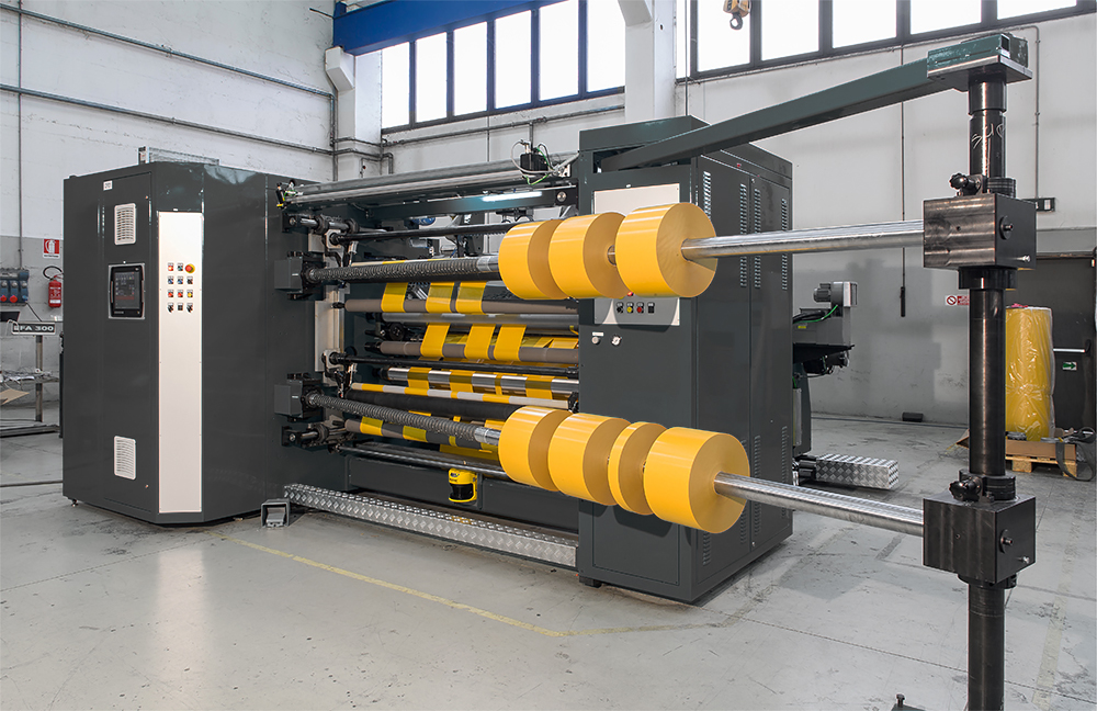 G&A RT800 K an slit multiple widths within the web allowing customers to purchase smaller minimums per size all slit from the same web.
