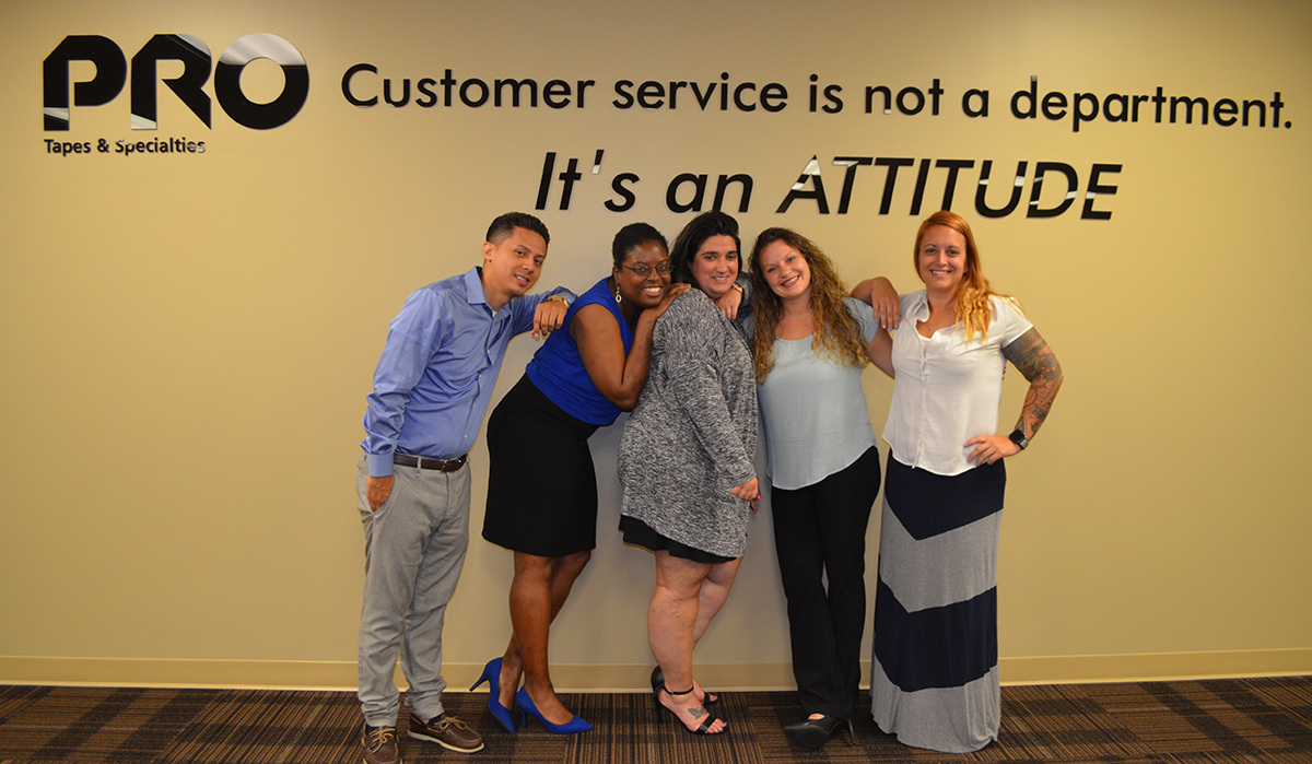 Meet our wonderful Inside Sales team. Empowered to help provide solutions to your tape needs!
