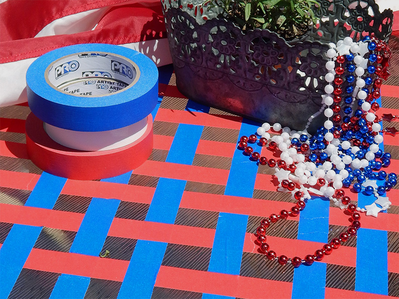 Also, try this windproof patriotic outdoor tablescape.