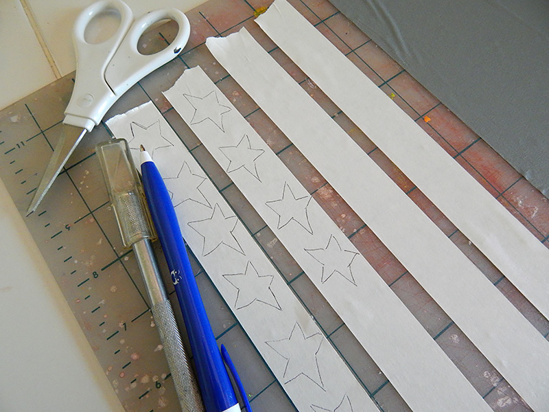 Use a pen to draw stars directly onto the tape.