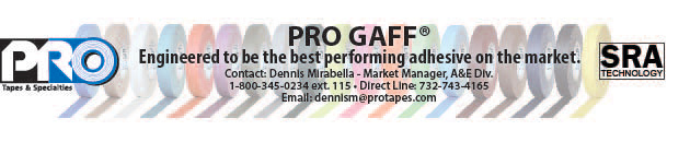 Pro Tapes® Digital Advertisement for the Entertainment Theatre, Staging & Production Industries