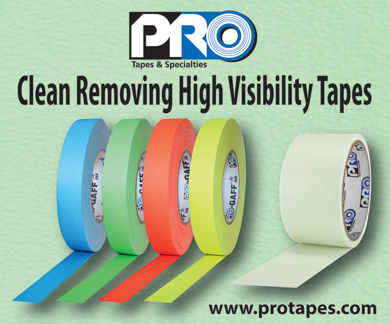 Pro Tapes® digital advertisement for the entertainment touring industry