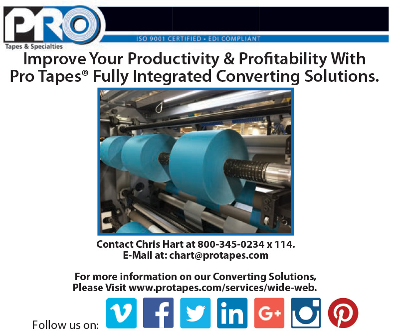 Pro Tapes® Digital Advertisement Highlighting our Contract Converting Services
