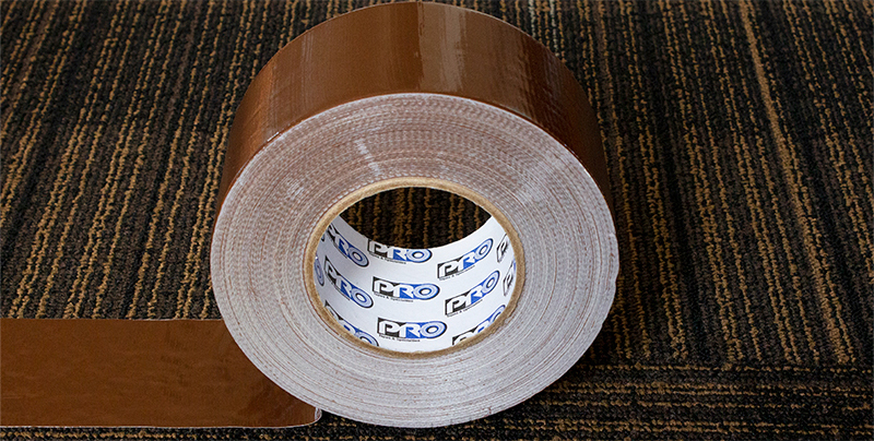 For carpet seaming: Pro® 120 is a premium duct tape that has been developed specifically for seaming carpet together.