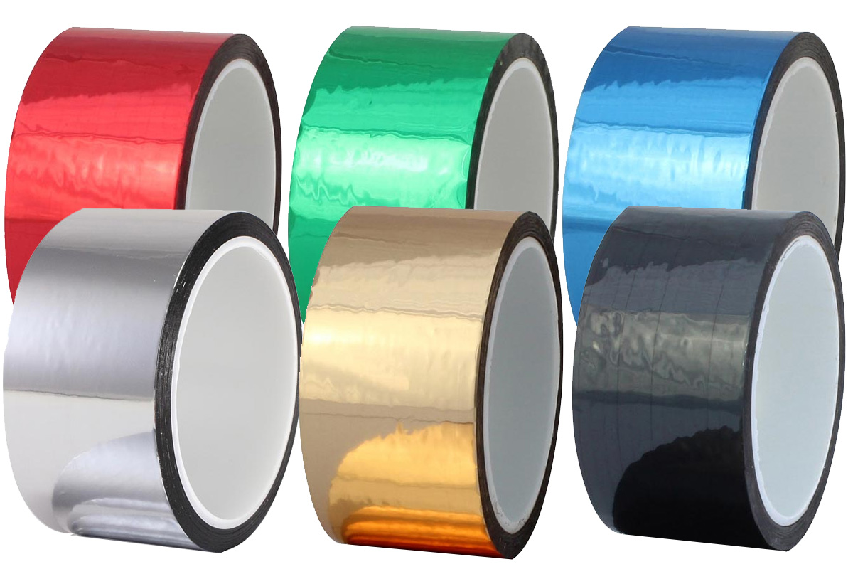 Pro® Sheen is a premium grade thin metalized polyester film tape with a long lasting acrylic adhesive.