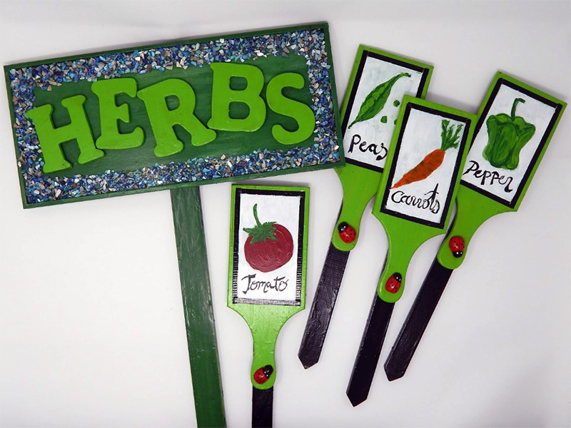 Tape Materials Used to Assemble & Decorate Summer Garden Signs
