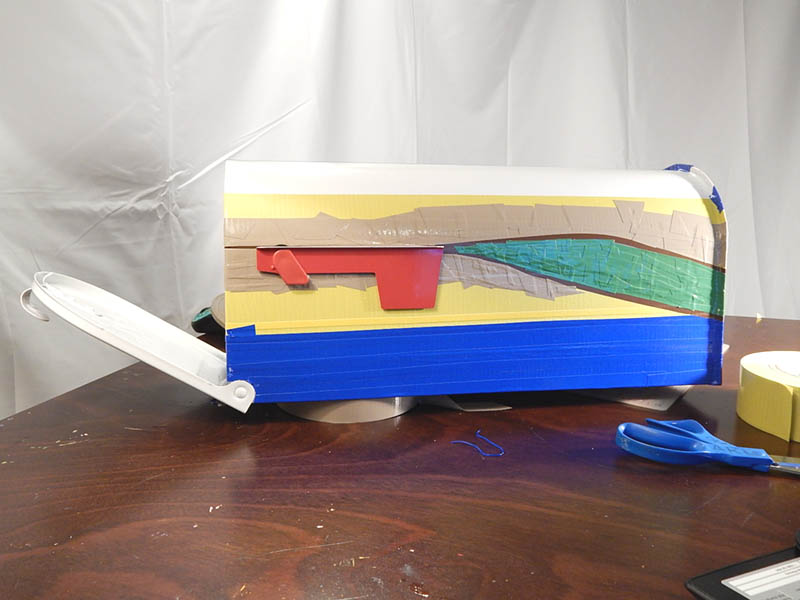 Layering Pro Duct in 8 colors to make a landscape