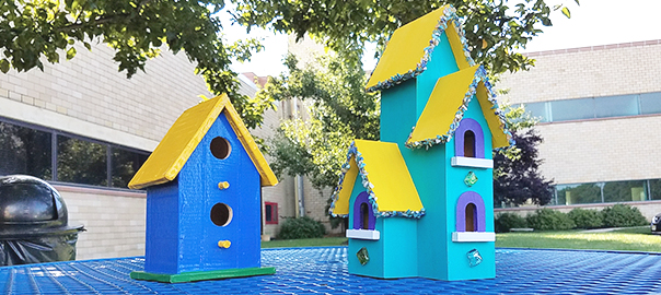 Birdhouses made with Pro® Artist Tape and EHB Tape