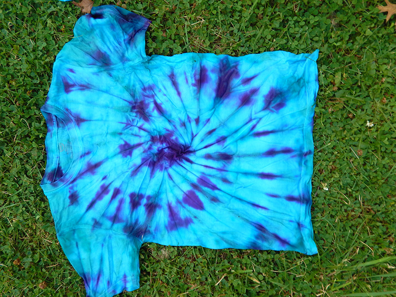 One of our finished tie-dye shirts! Isn't it beautiful?