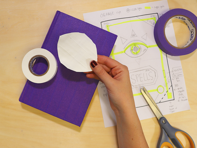create your different elements out of tape