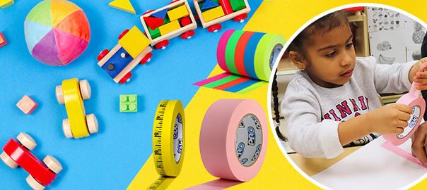 Tape for Motor Skills in the Pre-k Classroom