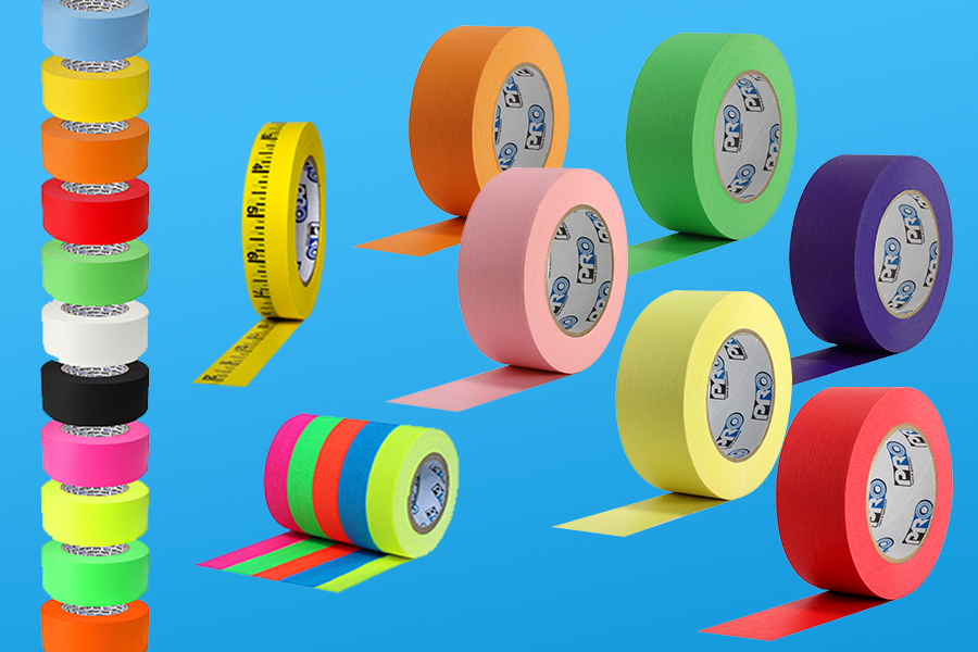 Products Shown: Pro® 46 Crepe Paper Tape, Pro® Artist Tape, Pro® Measurement Tape, and Pro® Pocket Spike Stack