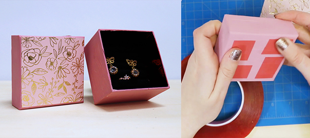 valentines day DIY jewelry box tape craft