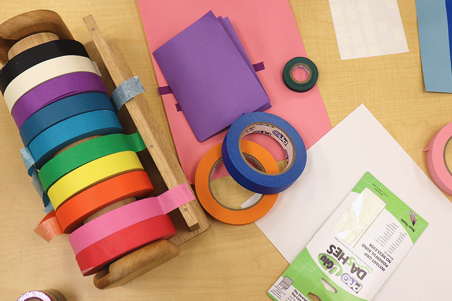 Tape can help young children develop their motor skills