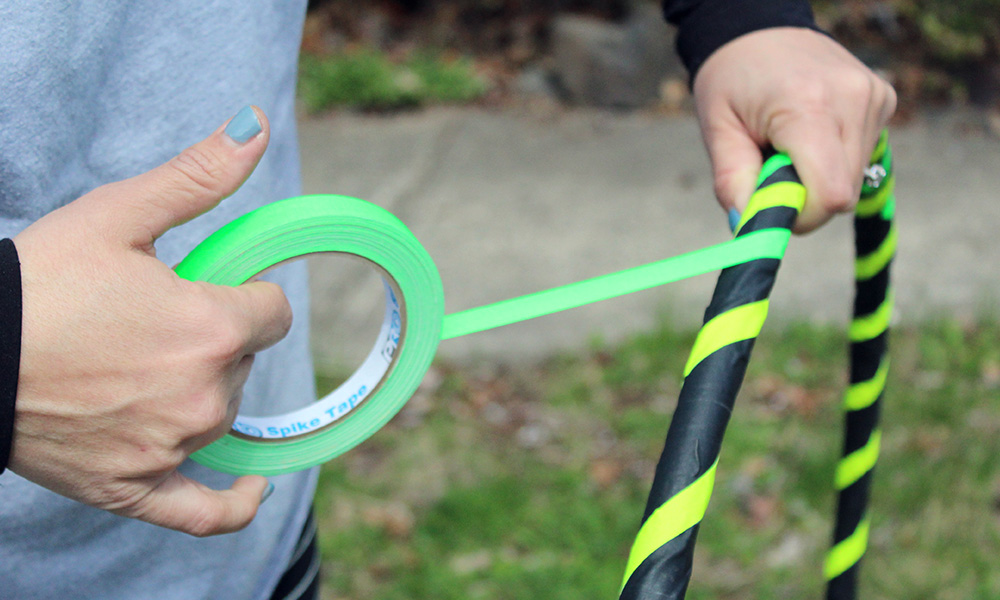 Very little supplies are required to personalize your hoop