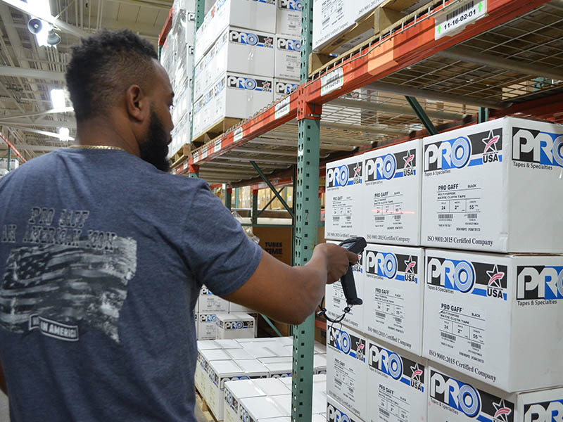 A Pro® order picker in our warehouse.