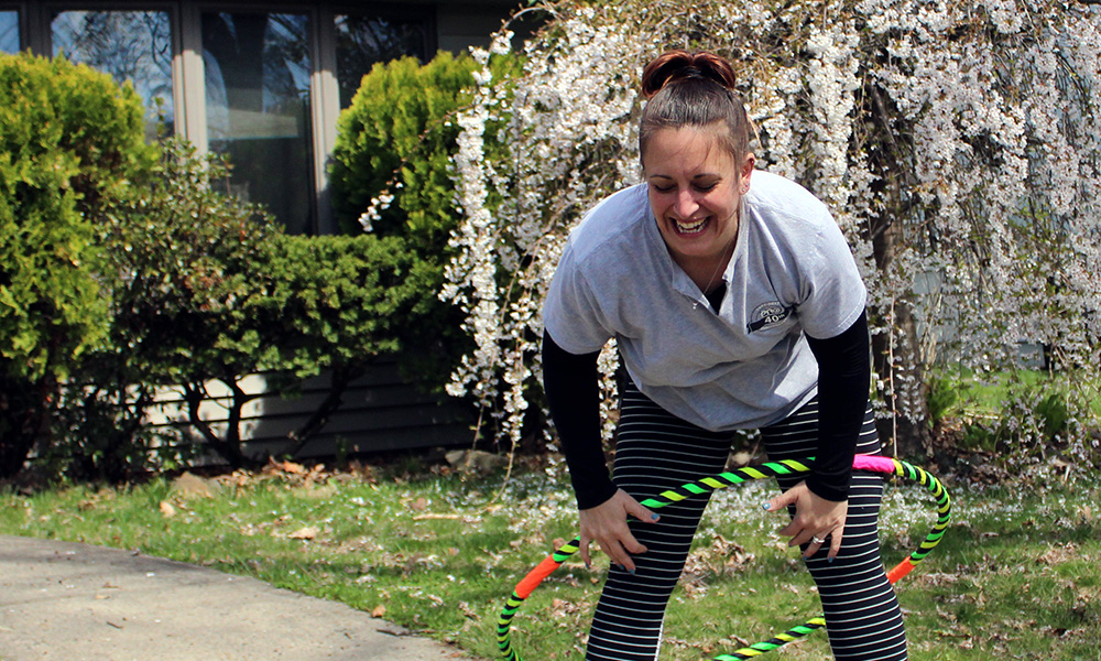 get out there and hula hoop and remember to have fun with it