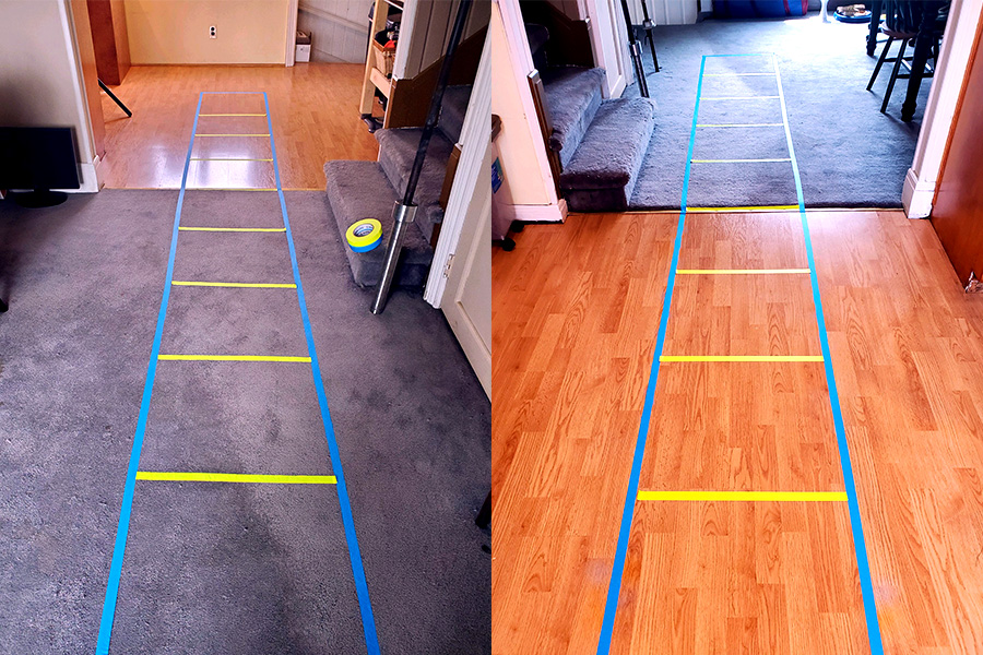 Example of an Agility Ladder made with Pro Gaff®