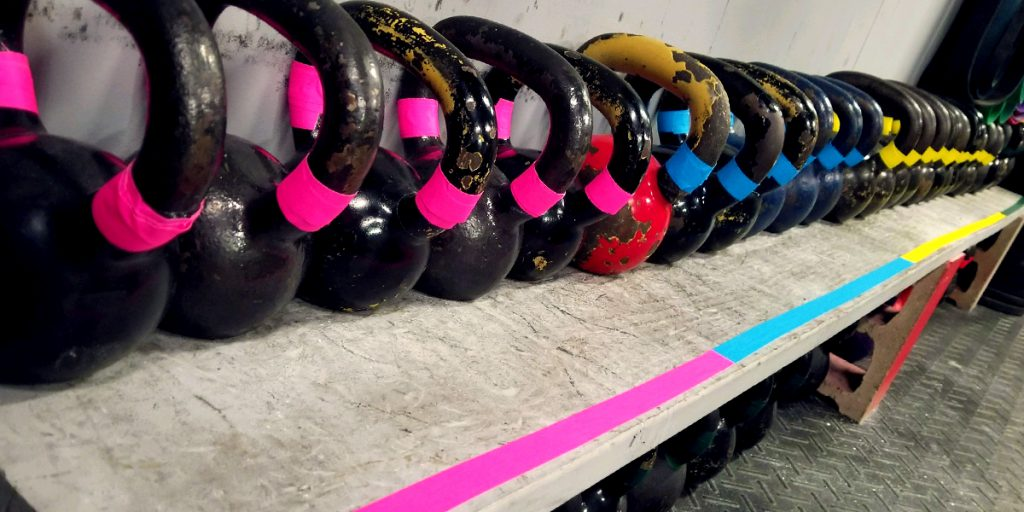 Color coding kettlebells and weight area with Pro Gaff® tape 02
