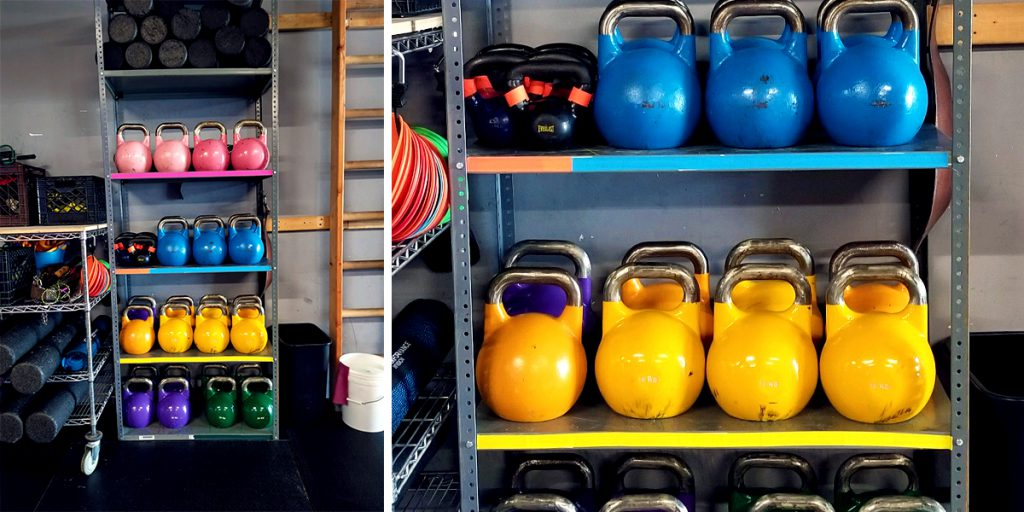Color coding kettlebells and weight area with Pro Gaff® tape 03