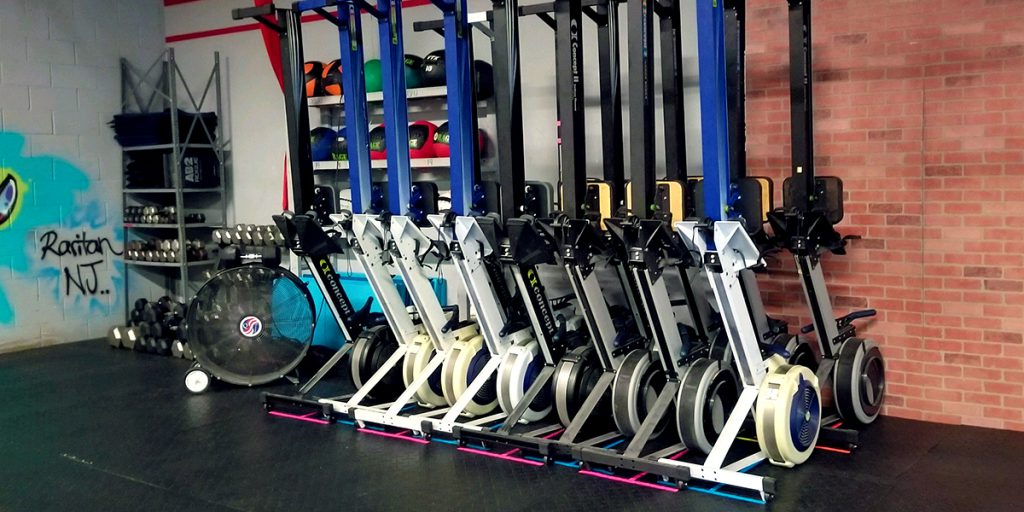 Marking spaces to store cardio equipment with Pro Gaff® tape 03
