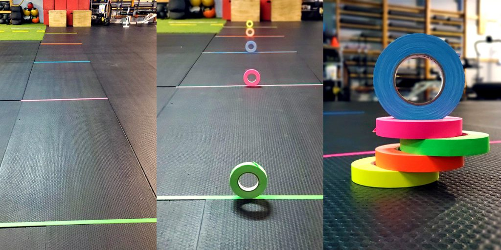Mark gym or yoga studio floors with Pro Gaff® tape