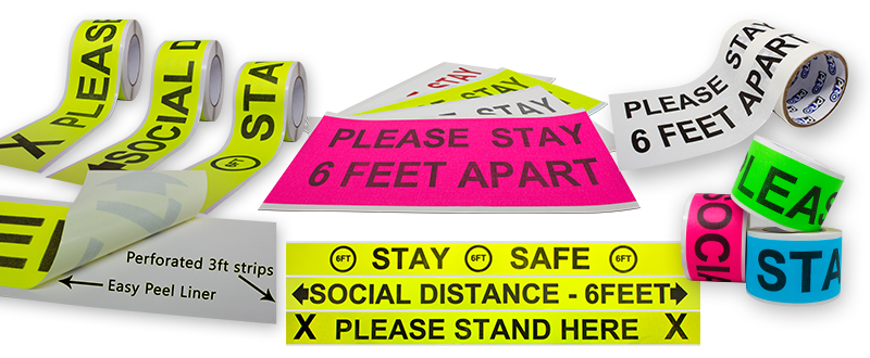 Pro Gaff® Signs as Printed Strips and Printed Sheets, plus Printed Pro® 4000