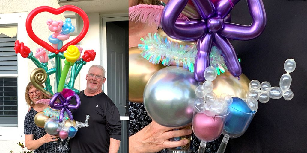 Make champagne glasses really bubble up with balloons and UGlu!