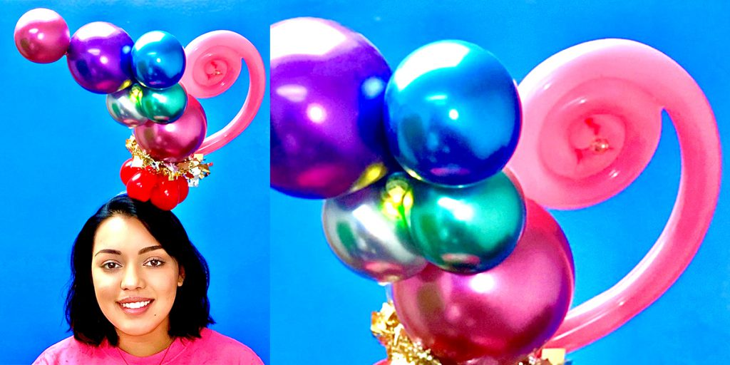 Create tight curls with balloons using UGlu Dashes