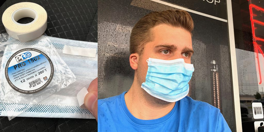 Pro 1502 is the perfect tape for holding up face masks