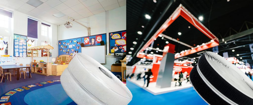 Pro Fast Hook and Loop tape is perfect for professional uses like trade shows or classrooms