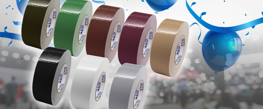 Pro Duct 120 is great for temporary cable hold down on carpets and comes in colors that match standard hotel chain carpets