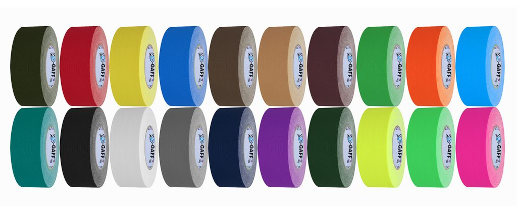 Pro Gaff Tape comes in 20 designer colors to match any event planning color palette