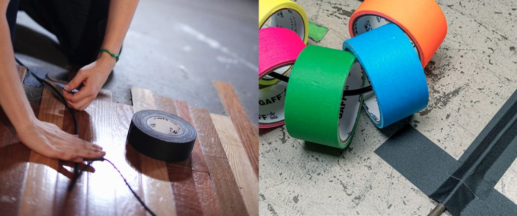 Pro Gaff tape is perfect for taping down wires and cables for events