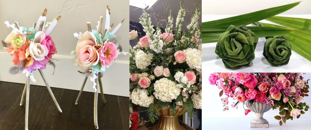 Jeannette also uses UGlu® tape in her flower arrangements to create unique bouquets for her party decor business