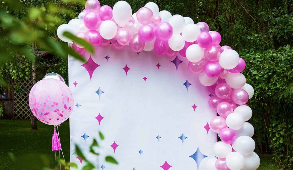 Balloon arches are a great way to celebrate graduations weddings and other parties in the spring and summer