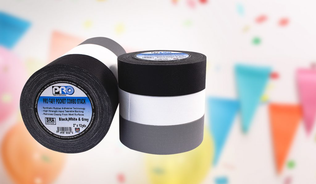 Our Pro Gaff Pocket Plus rolls are perfect for taping down cables and labeling for event planning