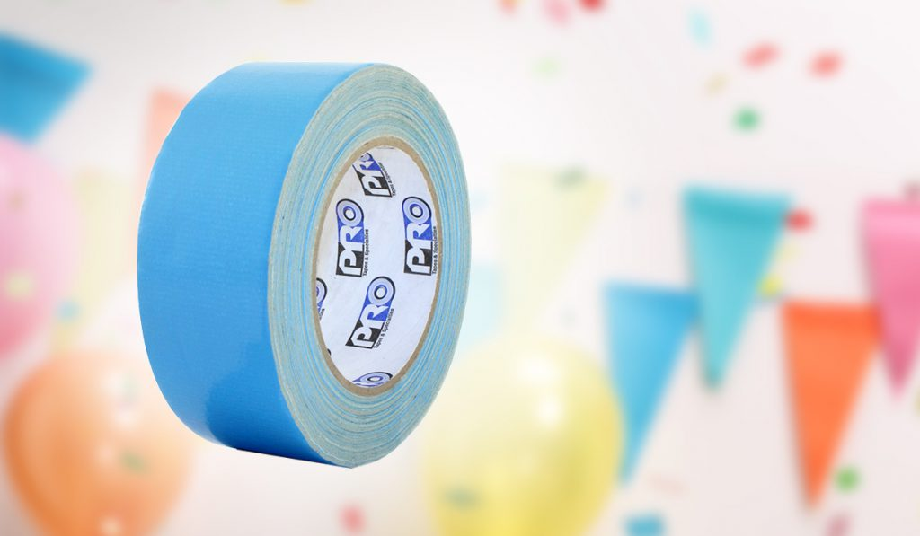 Pro 500B tape secures temporary carpets and dance floors