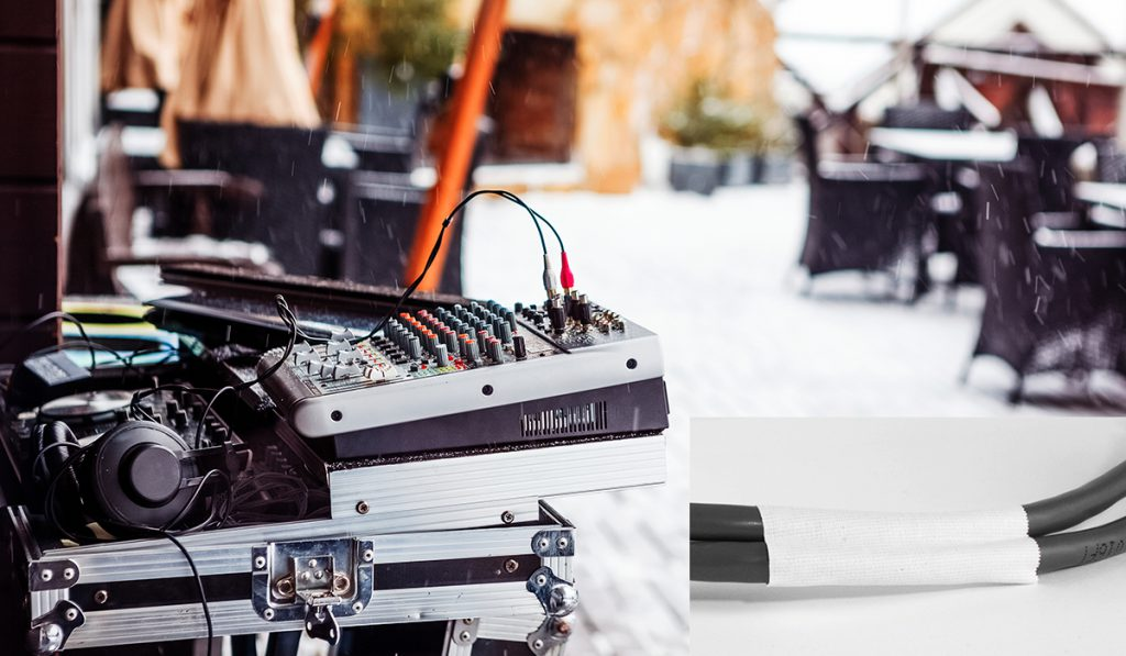 Secure cables for DJ audio boards and other sound camera and lighting equipment with Pro Gaff Pocket Plus