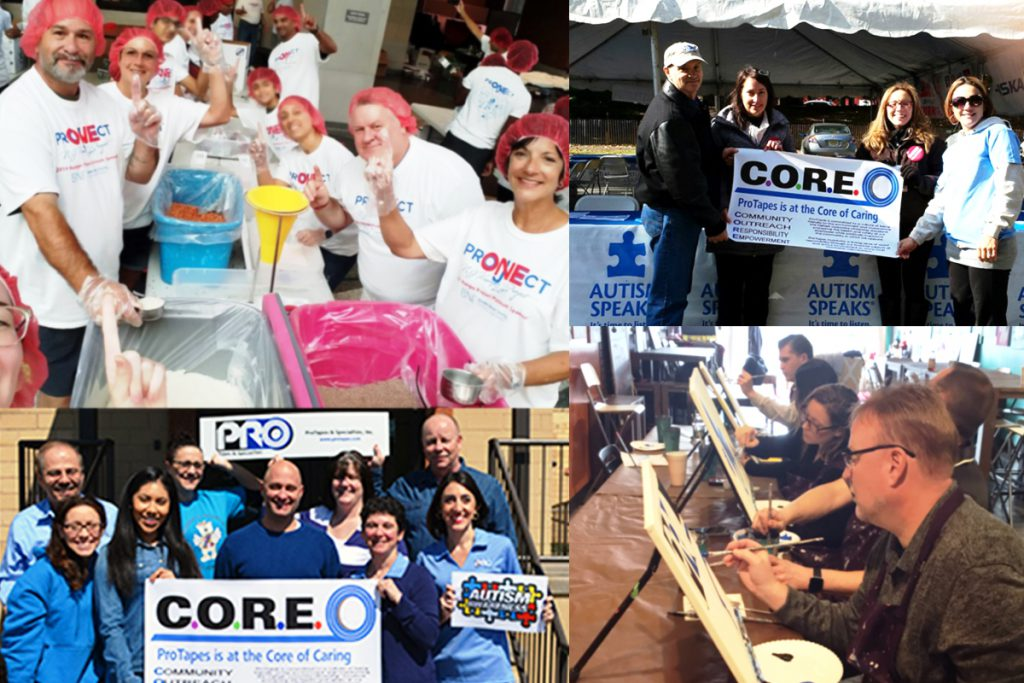 The Pro Tapes® C.O.R.E. Caring Program makes Pro® one of the best places to work by empowering employees to give back to the local community.